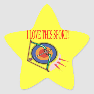 I Love This Sport Star Sticker