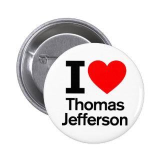 I Love Thomas Jefferson Pinback Button