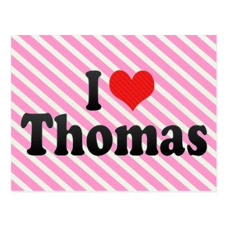 I Love Thomas Postcard