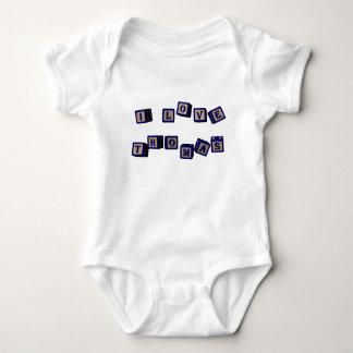 I love Thomas toy blocks in blue Baby Bodysuit