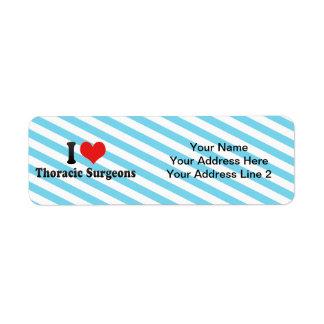 I Love Thoracic Surgeons Return Address Labels