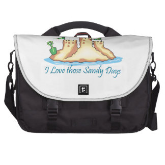 I Love Those Sandy Days Laptop Computer Bag