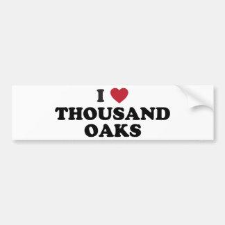I Love Thousand Oaks California Bumper Sticker