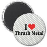 I Love Thrash Metal Fridge Magnet