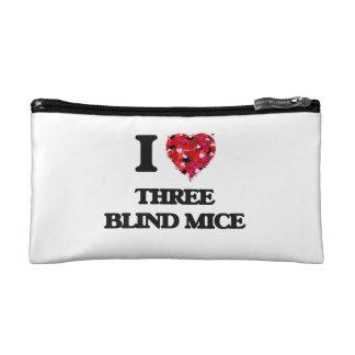 I love Three Blind Mice Makeup Bags