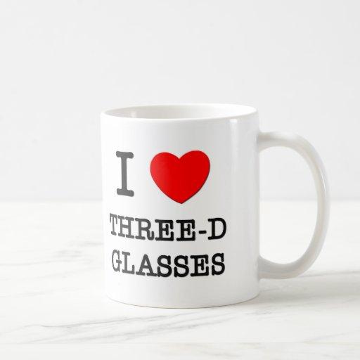 I Love Three-D Glasses Coffee Mug