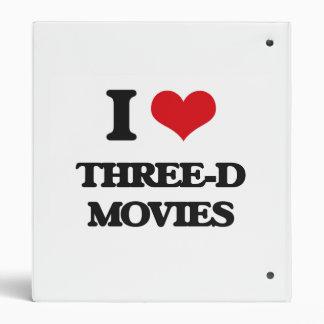 I love Three-D Movies Binders