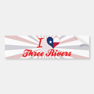 I Love Three Rivers, Texas Car Bumper Sticker