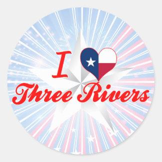 I Love Three Rivers, Texas Classic Round Sticker