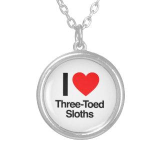 i love three-toed sloths pendant