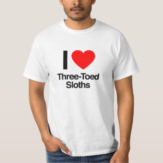 i love three-toed sloths T-Shirt