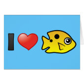 I Love Threespot Damselfish