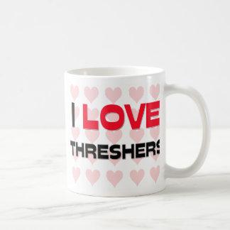 I LOVE THRESHERS COFFEE MUGS