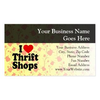 I Love Thrift Shops Business Cards