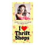 I Love Thrift Shops Custom Photo Card