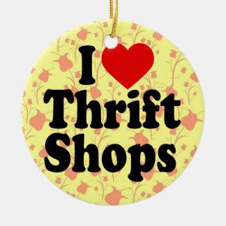 I Love Thrift Shops Christmas Tree Ornament