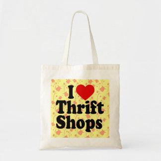 I Love Thrift Shops Tote Bag