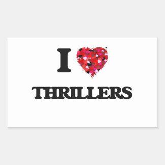 I love Thrillers Rectangular Sticker