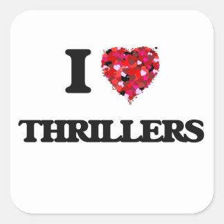 I love Thrillers Square Sticker