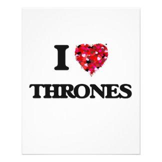 "I love Thrones 4.5"" X 5.6"" Flyer"