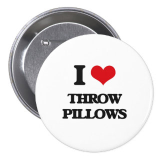 I love Throw Pillows 3 Inch Round Button