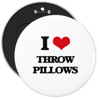 I love Throw Pillows 6 Inch Round Button
