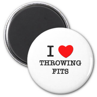 I Love Throwing Fits Magnets
