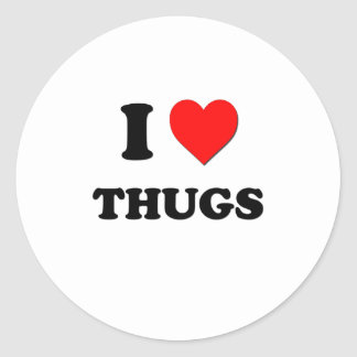 I love Thugs Stickers