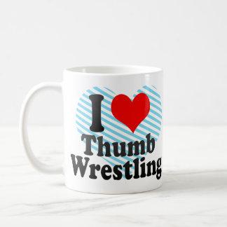 I love Thumb Wrestling Classic White Coffee Mug