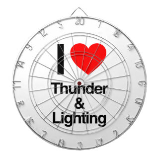 i love thunder and lightning dartboard