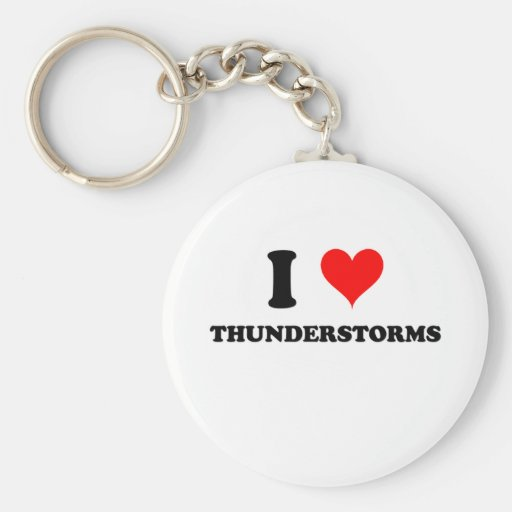 I Love Thunderstorms Keychain