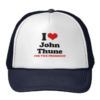 I LOVE THUNE FOR VICE PRESIDENT RED png Trucker Hats