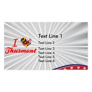 I Love Thurmont, Maryland Double-Sided Standard Business Cards (Pack Of 100)
