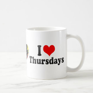 I Love Thursdays Classic White Coffee Mug