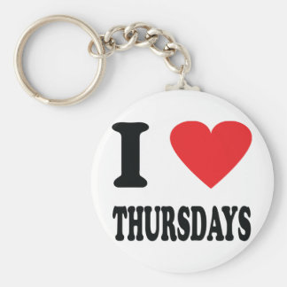 I love thursdays icon basic round button keychain