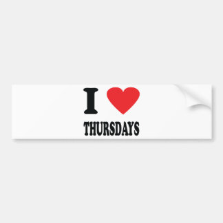 I love thursdays icon bumper sticker