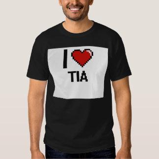 I Love Tia Digital Retro Design T Shirt