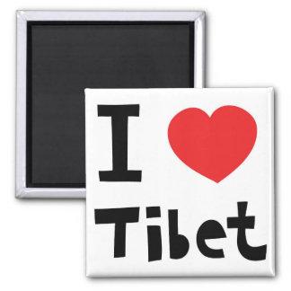 I love Tibet 2 Inch Square Magnet