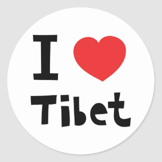 I love Tibet Classic Round Sticker