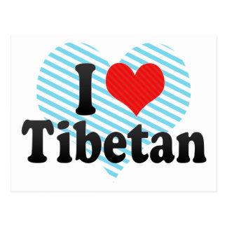 I Love Tibetan Postcard
