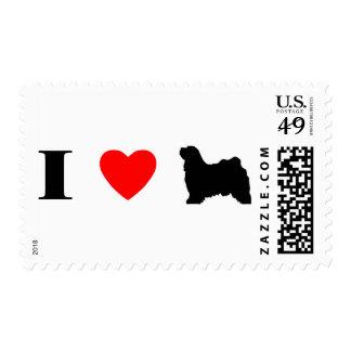 I Love Tibetan Terriers Stamps