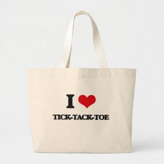I love Tick-Tack-Toe Jumbo Tote Bag