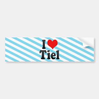 I Love Tiel, Netherlands Car Bumper Sticker
