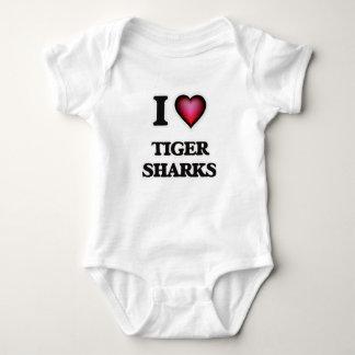 I Love Tiger Sharks Baby Bodysuit