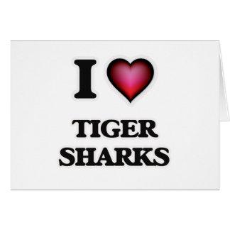 I Love Tiger Sharks Card