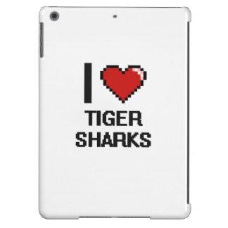 I love Tiger Sharks Digital Design iPad Air Covers