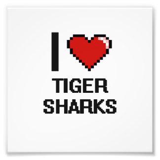 I love Tiger Sharks Digital Design Photo Print