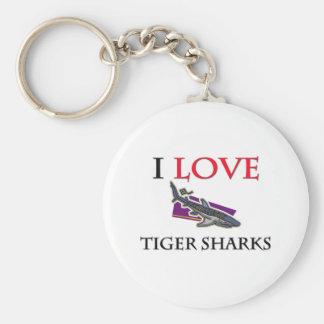 I Love Tiger Sharks Keychain