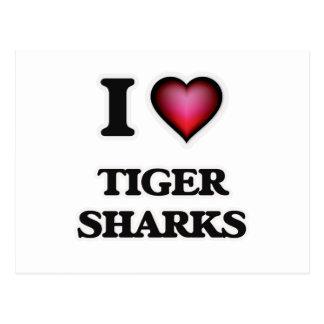 I Love Tiger Sharks Postcard