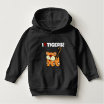 I Love Tigers Hoodie